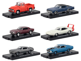 Drivers 6 Cars Set Release 62 in Blister Packs 1/64 Diecast Model Cars M2 Machines 11228-62