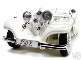 1936 Mercedes 500K Special Roadster White 1/18 Diecast Model Car Maisto 36055