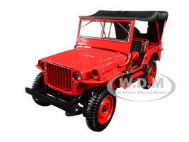 1942 Jeep Red 1/18 Diecast Model Car Norev 189014