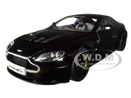 2015 Aston Martin V12 Vantage S Jet Black 1/18 Diecast Model Car Autoart 70253