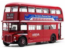 Routemaster RM #76 Tottenham Garage Double Decker Bus Red 1/24 Diecast Model SunStar 2941