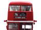Routemaster RM #76 Tottenham Garage Double Decker Bus Red 1/24 Diecast Model SunStar 2941