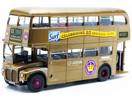 Routemaster RM #23 Liverpool Street Double Decker Bus Gold 1/24 Diecast Model SunStar 2942