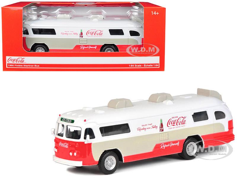 1960 Flxible Starliner Bus Coca Cola 1/64 Diecast Model Motorcity Classics 464005