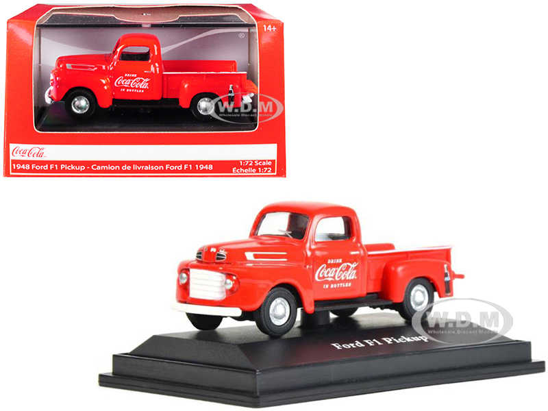 1948 Ford F1 Pickup Truck Coca Cola Red 1/72 Diecast Model Car Motorcity Classics 472001