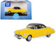 1950 Oldsmobile Rocket 88 Coupe Yellow Black Top 1/87 HO Scale Diecast Model Car Oxford Diecast 87OR50003