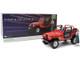 1983 Jeep CJ-7 Renegade Red Sarah Connor Figurine The Terminator 1984 Movie 1/18 Diecast Model Car Greenlight 19060