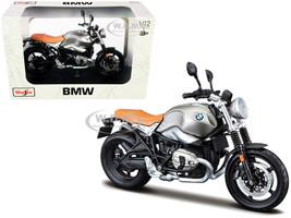 BMW R nineT Scrambler Meatllic Gray Plastic Display Stand 1/12 Diecast Motorcycle Model Maisto 32701