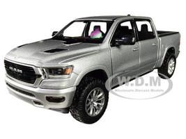 2019 RAM 1500 Laramie Crew Cab Pickup Truck Silver 1/24 Diecast Model Car Motormax 79357