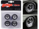 Magnum Wheels and Tires Set of 4 pieces from 1970 Plymouth GTX 1/18 GMP 18896