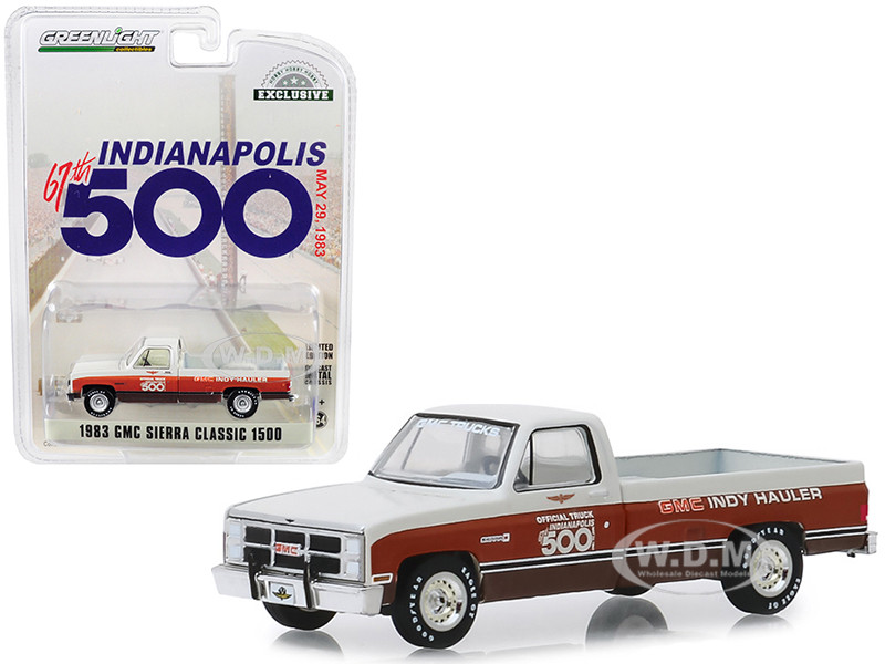 1983 GMC Sierra Classic 1500 Pickup Truck 67th Annual Indianapolis 500 Mile Race Official Truck May 29 1983 Hobby Exclusive 1/64 Diecast Model Car Greenlight 30028