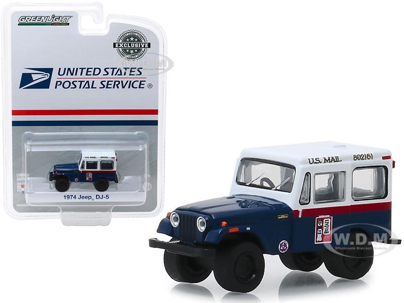 1974 Jeep DJ-5 US Mail Civil Defense Hobby Exclusive 1/64 Diecast Model Car Greenlight 30070