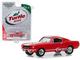 1965 Shelby GT350 Orange with White Stripes Turtle Wax Ad Cars Wax Before You Ride Hobby Exclusive 1/64 Diecast Model Car Greenlight 30072