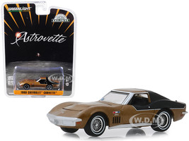 1969 Chevrolet Corvette Gold AstroVette NASA Apollo XII Astronaut's Hobby Exclusive 1/64 Diecast Model Car Greenlight 30073