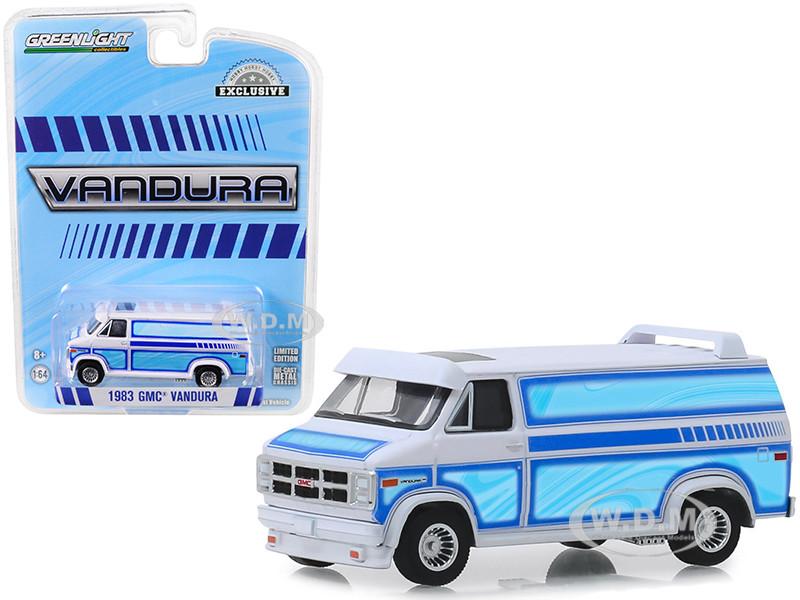 1983 GMC Vandura Custom Van White with Custom Graphics Hobby Exclusive 1/64 Diecast Model Car Greenlight 30094