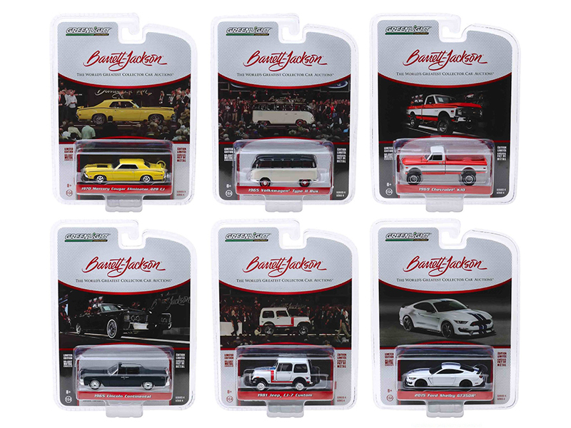 Barrett Jackson Scottsdale Edition Series 4 Set of 6 Cars 1/64 Diecast Model Cars Greenlight 37180