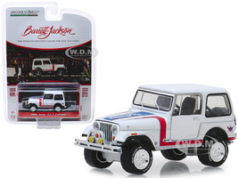 1981 Jeep CJ-7 Custom White Lot #3005 Barrett Jackson Scottsdale Edition Series 4 1/64 Diecast Model Car Greenlight 37180 E