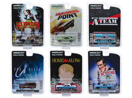 Hollywood Series Release 25 Set of 6 Cars 1/64 Diecast Model Cars Greenlight 44850