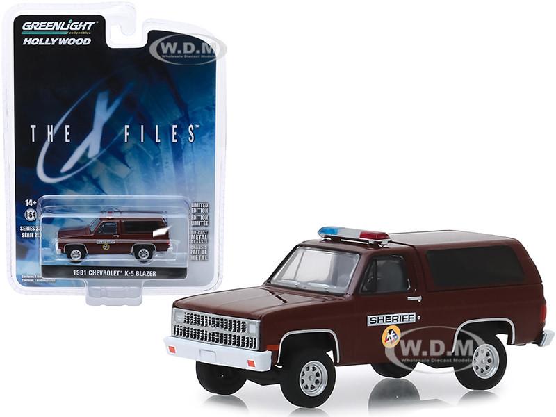 1981 Chevrolet K-5 Blazer Sheriff The X-Files 1993 2002 TV Series Hollywood Series Release 25 1/64 Diecast Model Car Greenlight 44850 D
