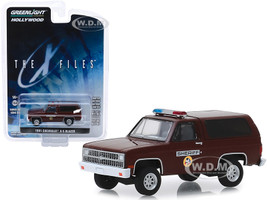 1981 Chevrolet K-5 Blazer Sheriff The X-Files 1993 2002 TV Series Hollywood Series Release 25 1/64 Diecast Model Car Greenlight 44850 D