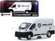 2018 RAM ProMaster 2500 Cargo High Roof Van White Police Transport Vehicle 1/43 Diecast Model Car Greenlight 86168