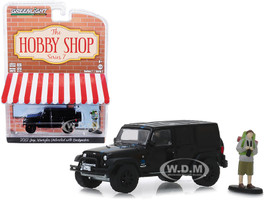 2012 Jeep Wrangler Unlimited MOPAR Off-Road Black Backpacker Figurine The Hobby Shop Series 7 1/64 Diecast Model Car Greenlight 97070 F