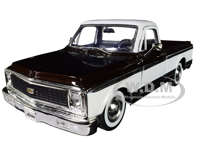 1972 Chevrolet Cheyenne Pickup Truck Brown White Extra Wheels Just Trucks Series 1/24 Diecast Model Car Jada 96817