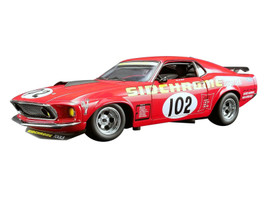 1969 Ford Mustang Boss 302 Trans Am #102 Sidchrome with the Certificate of Authenticity Personally Signed by Jim Richards DDA Collectibles Series Limited Edition 954 pieces Worldwide 1/18 Diecast Model Car ACME A1801829