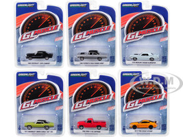 Greenlight Muscle Series 22 Set 6 Cars 1/64 Diecast Model Cars Greenlight 13250