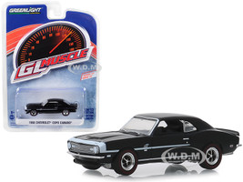 1968 Chevrolet COPO Camaro Tuxedo Black White Stripes Greenlight Muscle Series 22 1/64 Diecast Model Car Greenlight 13250 A