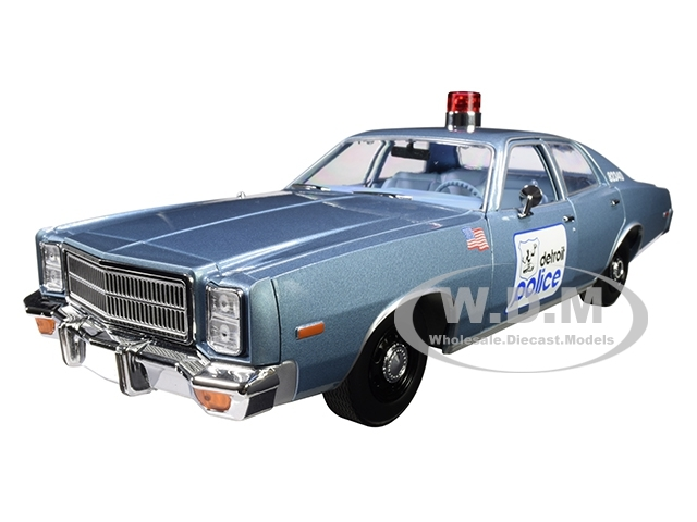 1977 Plymouth Fury Blue Detroit Police Beverly Hills Cop 1984 Movie 1/18 Diecast Model Car Greenlight 19069