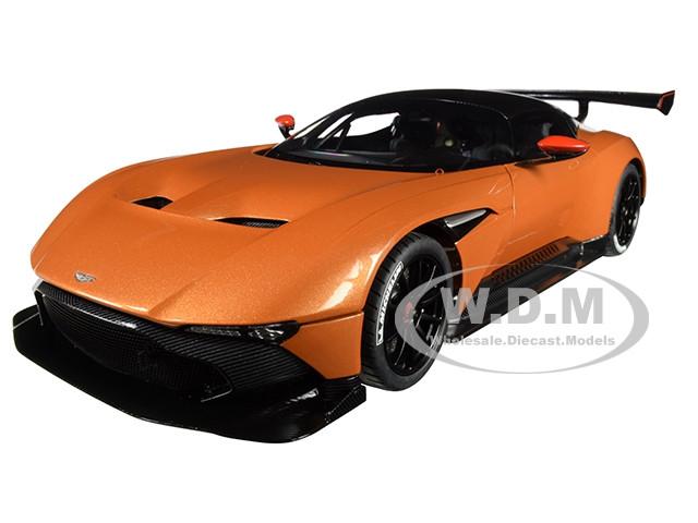Aston Martin Vulcan Madagascar Orange Carbon Top 1/18 Model Car Autoart 70264