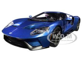 2017 Ford GT Liquid Blue 1/18 Model Car Autoart 72942
