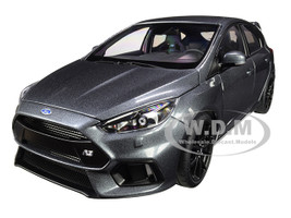 2016 Ford Focus RS Stealth Gray Metallic 1/18 Model Car Autoart 72954