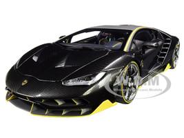 Lamborghini Centenario Clear Carbon Yellow Accents 1/18 Model Car Autoart 79114