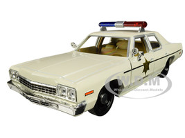 1975 Dodge Monaco Cream Hazzard County Sheriff 1/24 Diecast Model Car Greenlight 84094