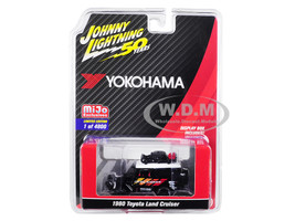 1980 Toyota Land Cruiser Black Accessories Geolandar Yokohama Johnny Lightning 50th Anniversary Limited Edition 4800 pieces Worldwide 1/64 Diecast Model Car Johnny Lightning JLCP7218