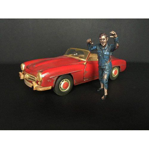 Zombie Mechanic Figurine II for 1/24 Scale Models American Diorama 38298