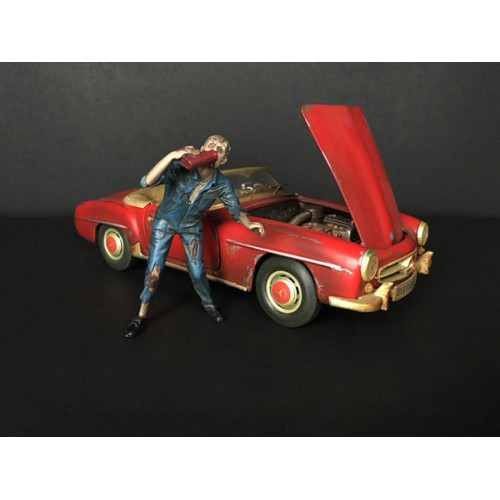 Zombie Mechanic Figurine III for 1/24 Scale Models American Diorama 38299