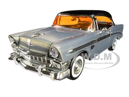 1956 Chevrolet Bel Air Raw Metal Black Top Showroom Floor Jada 20th Anniversary 1/24 Diecast Model Car Jada 31081