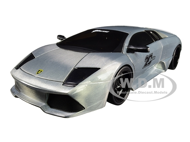 Lamborghini Murcielago Raw Metal Hyper-Spec Jada 20th Anniversary 1/24 Diecast Model Car Jada 31084