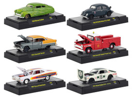 Auto Shows 6 piece Set Release 55 IN DISPLAY CASES 1/64 Diecast Model Cars M2 Machines 32500-55