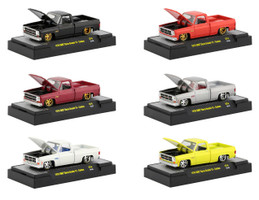 Auto Trucks 6 piece Set of 1976 GMC Custom Trans Am with Hood Birds IN DISPLAY CASES 1/64 Diecast Model Cars M2 Machines 32500-S74