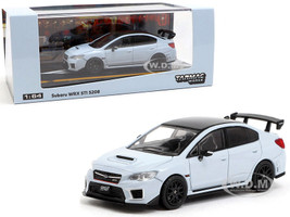 Subaru WRX STi S208 Cool Gray Khaki Carbon Top 1/64 Diecast Model Car Tarmac Works T64-016-GY