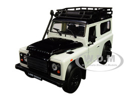 Land Rover Defender Roof Rack White Black 1/24 1/27 Diecast Model Car Welly 22498