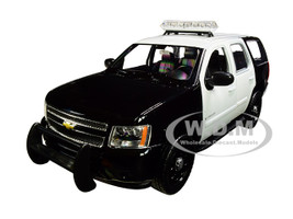 2008 Chevrolet Tahoe Unmarked Police Car Black White 1/24 1/27 Diecast Model Car Welly 22509