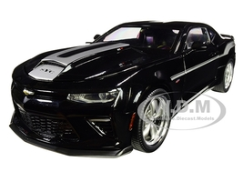 2018 Chevrolet Camaro Yenko/SC Stage I Coupe Black Silver Stripes Limited Edition 702 pieces Worldwide 1/18 Diecast Model Car Autoworld AW254