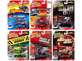 Street Freaks 2019 Release 3 Set A of 6 Cars 1/64 Diecast Models Johnny Lightning JLSF014 A