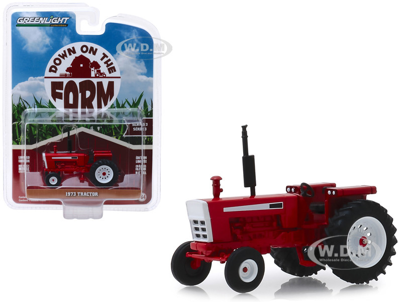1973 Tractor Red Down on the Farm Series 3 1/64 Diecast Model Greenlight 48030 C