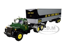 Mack B-61 Day Cab 40' Vintage Trailer Lee Way Motor Freight Inc 30th in a Fallen Flag Series 1/64 Diecast Model DCP First Gear 60-0572